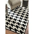 Rug Collective Houndstooth Black / Ivory Rug