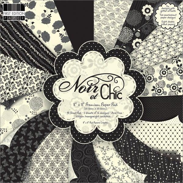 """Premium Paper Pad 8""""X8"""" 48/Sheets-Noir & Chic"""