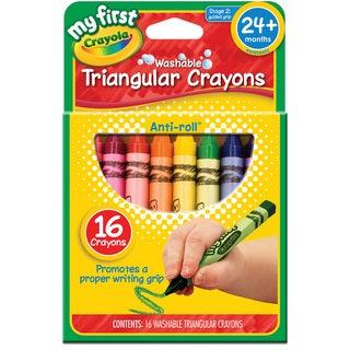 My First Crayola Washable Triangular Crayons 16/Pkg-