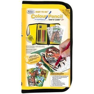Big Kid's Choice Easy To Do Keep N' Carry Set -Colour Pencil By Numbers
