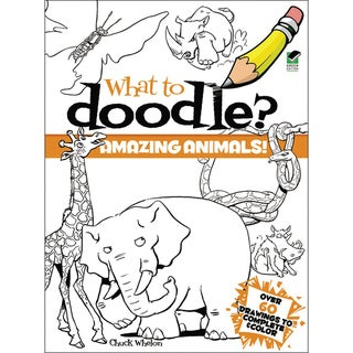 Dover Publications-What To Doodle? Amazing Animals!