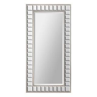 Maggie Glass Cube/ Silver Leaf Metal-framed Mirror