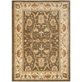 Oushak Brown/ Cream Powerloomed Rug