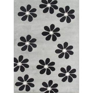 Alliyah Handmade Ash Grey New Zealand Blend Wool Rug (8' x 10')