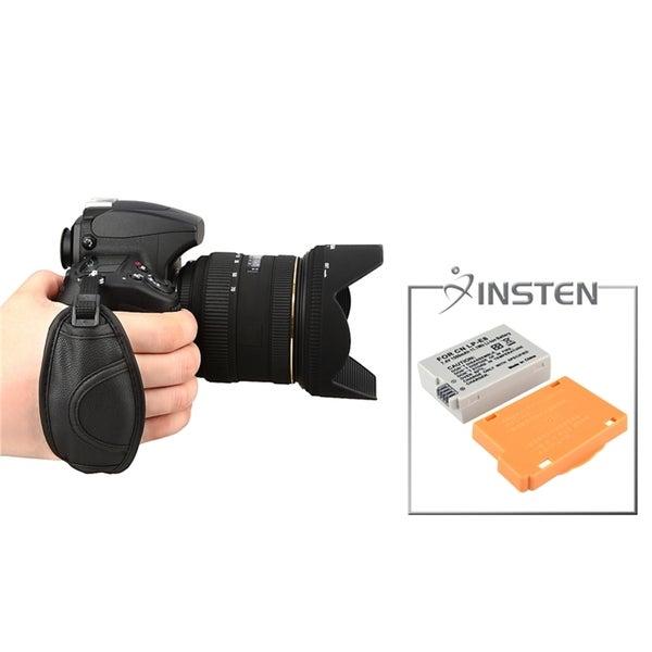 INSTEN Battery/ Hand Strap for Canon EOS Rebel T2i/ T3i/ 550D/ 600D
