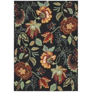 Nourison Vista Floral Black Rug