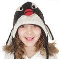 Kids' Wool Fleece-lined Penguin Hat