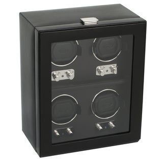 WOLF Heritage Four Watch Winder with Cover