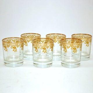 Threestar D.O.F. 14k Gold Pattern Tumbler Glasses (Set of 6)