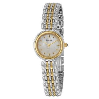 Bulova Women's Yellow-gold Plated Steel 'Classic' Watch