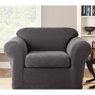 Sure Fit Grey Stretch Metro Chair Slipcover
