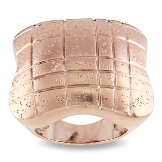M by Miadora 18k Rose-gold Plated Cocktail Ring