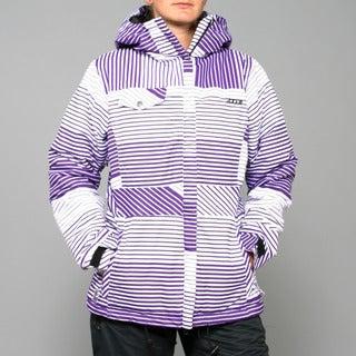 Zonal Women's 'Lender' Purple Stripe Snowboard Jacket