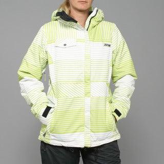 Zonal Women's 'Lender' Tender Shoots Stripe Snowboard Jacket