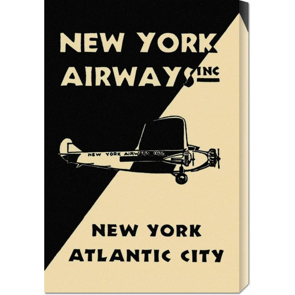 Retro Travel 'New York Airways Inc' Stretched Canvas Art