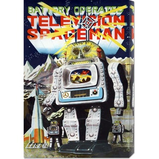 Retrobot 'Battery Operated Television Spaceman' Stretched Canvas Art
