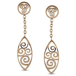 M by Miadora Stainless Steel Swirl Dangle Earrings