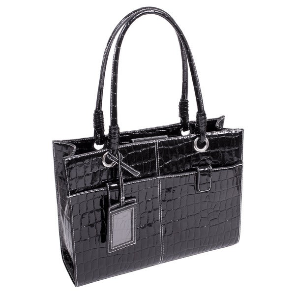 McKlein Women's 'Elena' Faux Croco Leather Ladies' Business Tote
