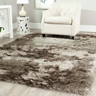 Safavieh Silken Sable Brown Shag Rug (6' x 9')
