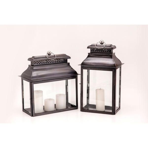 Horizon Colonial Rectangular Black Zinc Lantern