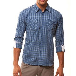 191 Unlimited Men's Plaid Woven Shirt