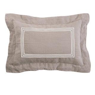 Roxbury Park Baratto Linen Prarie With Ivory Trim Decorative Pillow