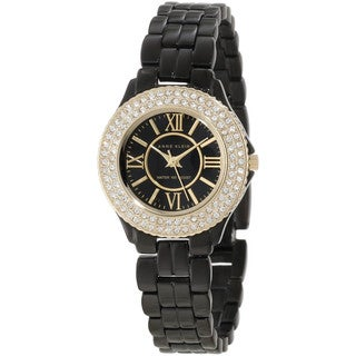 Anne Klein Women's Black Stainless Steel Watch