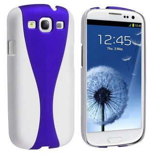 BasAcc White/ Blue Cup Shape Rear Case for Samsung Galaxy S III/ S3