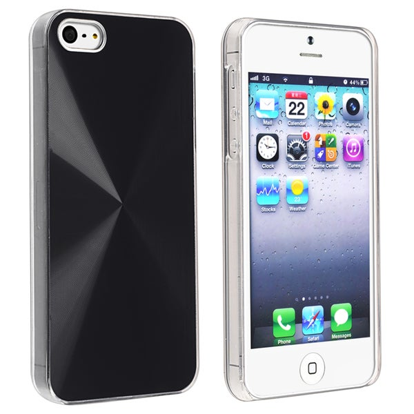 BasAcc Metallic Black Snap-on Case for Apple iPhone 5