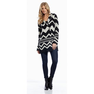 Elan Women's Aztec Hooded Cardigan