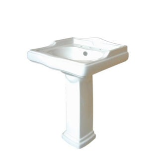 Country 8-inch Center Pedestal Bathroom Sink