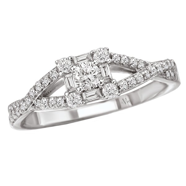Avanti 14k White Gold 1/2ct TDW Diamond Engagement Ring (G-H, SI1-SI2)