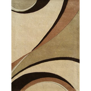 Alliyah Handmade Beige New Zealand Blend Wool Area Rug (9' x 12')