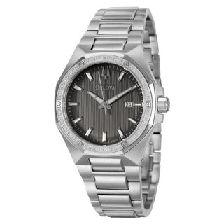 Bulova Men's 96E111 'Diamonds' Stainless Steel Watch