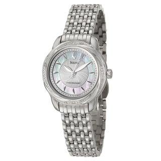 Bulova Women's 96R153 'Precisionist' Stainless Steel/ Diamond Bezel Watch