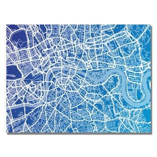 Michael Tompsett 'London Map' Canvas Art