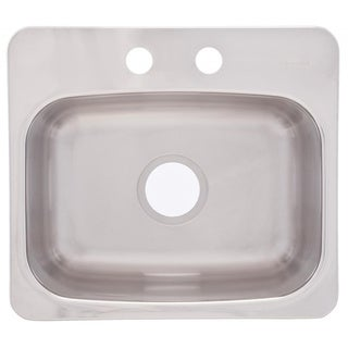 Dual Mount 8-inch Deep Stainless Steel Bar Sink
