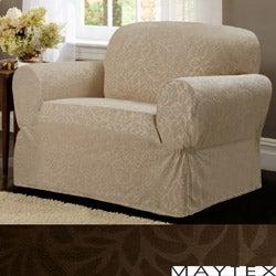 Maytex James Leaf One-piece Chair Slipcover