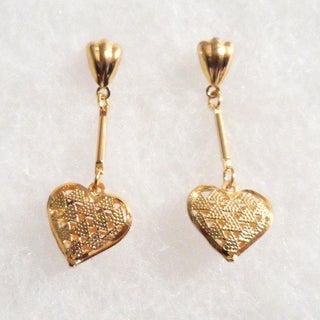 Ann Marie Lindsay 18k Gold Heart Earrings