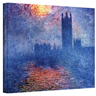 Claude Monet 'Houses of Parliament' Wrapped Canvas