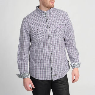 English Laundry Purple Woven Plaid Shirt