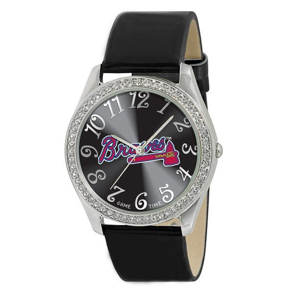 MLB Women's Glitz Classic Analog Patent Leather Watch