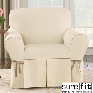 Contrast Cord Duck Natural Chair Slipcover