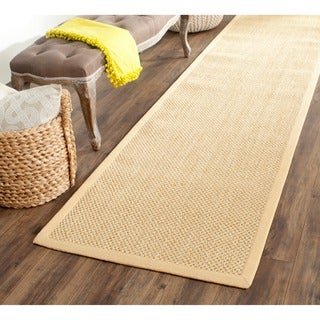 Safavieh Hand-woven Resorts Natural/ Beige Fine Sisal Runner (2' 6 x 6')