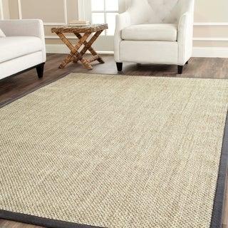 Safavieh Hand-woven Resorts Natural/ Grey Fine Sisal Rug (2' 6 x 4')