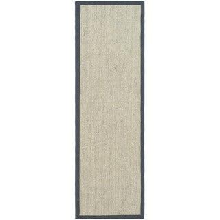 Safavieh Hand-woven Serenity Marble/ Grey Sisal Rug (2' 6  x 22')