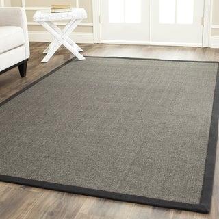 Safavieh Hand-woven Natural Fiber Serenity Charcoal Grey Sisal Rug (6' Square)