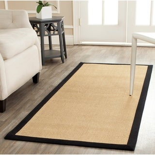 Safavieh Hand-woven Resorts Maize Beige/ Black Fine Sisal Rug