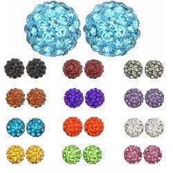 Kate Marie Colored Rhinestone Ball Fashion Earrings
