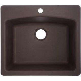 ESDB252291-1 Ellipse Granite Single Bowl Undermount/Self-Rimming Sink